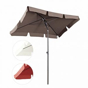 Sekey Parasol Metal marron blanc rouge